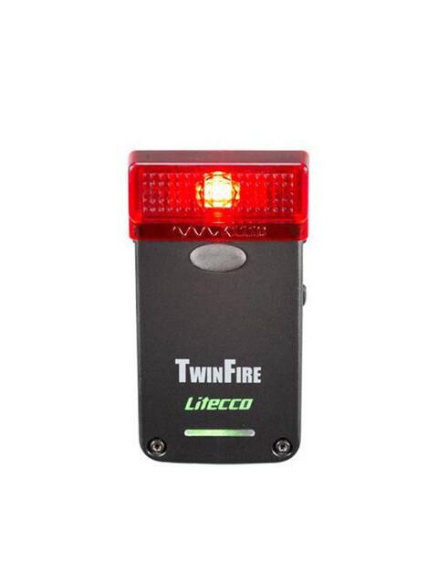 Litecco Twinfire LED-Rückleuchte mit Bremslicht schwarz